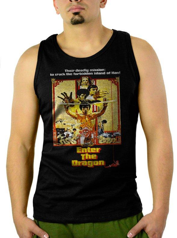 Enter The Dragon - Custom Bruce LeeMen Black Tank Top Sleeveless