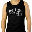 Evolution of Mountain Biker- Downhill Single Track MTB Ape to Man Men Black Tank Top Sleeveless