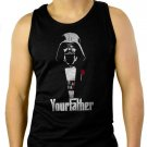 FUNNY STAR WARS DARTH VADER GODFATHER Men Black Tank Top Sleeveless