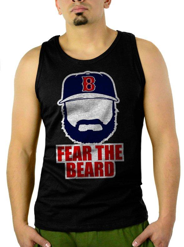 Johnny Gomes Men Tank Top Boston Red Sox FEAR THE BEARD