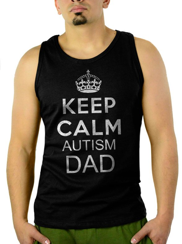 Keep Calm I'm An Autism Dad Men Tank Top Sleeveless