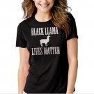 New Hot BLACK LLAMA LIVES MATTER Women Adult T-Shirt