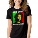 New Hot Bob Marley One Love Rasta Women Adult T-Shirt