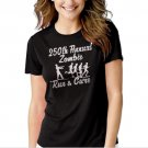 New Hot 250th Annual Zombie Run for the Cure Walking Dead T-Shirt For Women