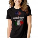 New Hot American Grown with Italian Roots T-Shirt For Women