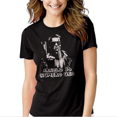 New Hot ARNOLD IS NUMERO UNO T-Shirt For Women