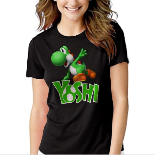 New Hot Boys Nintendo Big Green Yoshi T-Shirt For Women