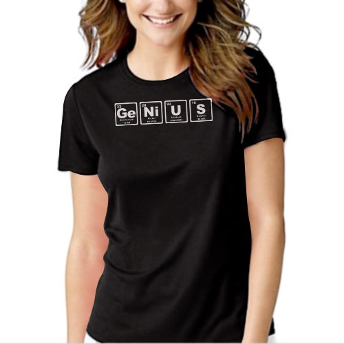 New Hot GENIUS Periodic Table Elements T-Shirt For Women