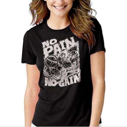 New Hot NO PAIN NO GAIN GYM T-Shirt For Women