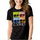 New Hot Sesame Street Cookie Monster Glasses T-Shirt For Women