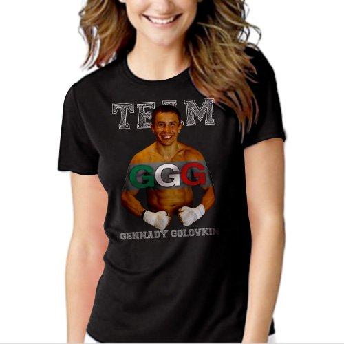 New Hot TEAM GENNADY GOLOVKIN GGG BOXING T-Shirt For Women