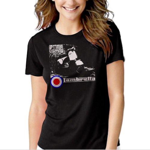 New Hot VESPA LAMBRETTA ARTWORK SCOOTER SKA MOD T-Shirt For Women