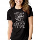 New Hot We Lived In The Murder House We escaped the Asylum T-Shirt For Women
