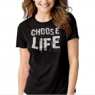 Choose Life Wham George Michael Black T-shirt For Women
