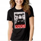 COOK OBEY Parody Walter White Breaking Pinkman Bad Black T-shirt For Women