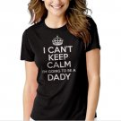 Dad Maternity Black T-shirt For Women