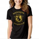 Hufflepuff Quidditch Funny Harry Hog Potter Warts Seeker House Black T-shirt For Women