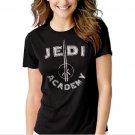 Jedi Academy Star Wars Luke Skywalker Black T-shirt For Women