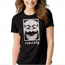 MR Robot F Society Black T-shirt For Women