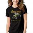 Old School Rodfather Hot Rat Rod Classic Car Black T-shirt For Women