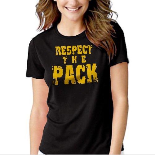 Respect the Pack Green Bay Packers Go Pack Black T-shirt For Women