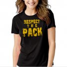 Respect the Pack Green Bay Packers Go Pack Black T-shirt For Women