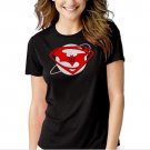 SUPERMAN vs BATMAN Inspired Down of justice Black T-shirt For Women