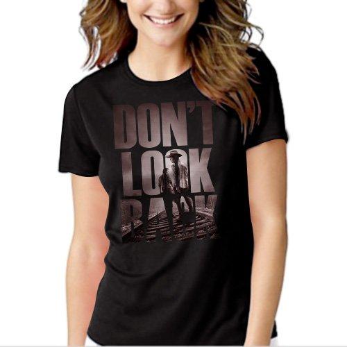 The Walking Dead Fan Don't Look Back Black T-shirt For Women