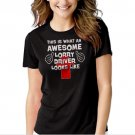 This Is What An Awesome Lorry Driver Looks Like - Scania Truck Black T-shirt For Women