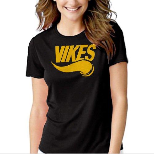 VIKES Minnesota Vikings Black T-shirt For Women