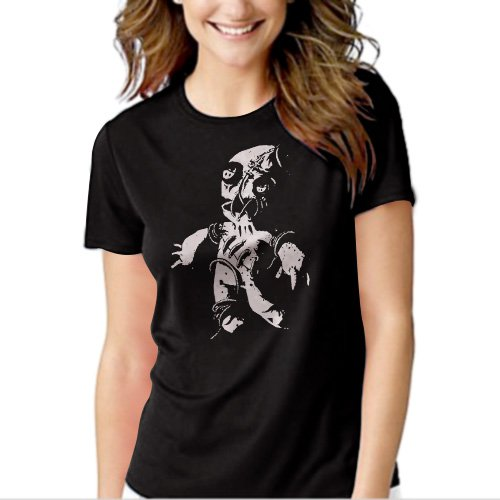 Voodoo Doll Goth Rock Black T-shirt For Women