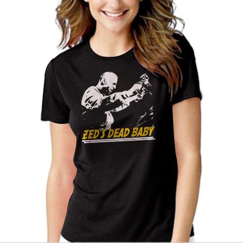 Zeds Dead Baby Pulp Fiction Quentin Tarantino Black T-shirt For Women