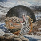 """The Yawn ~ Siberian Tiger Mother and Cub"" Limited Edition Print"