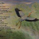 Great Blue Heron w/Poem - Item  CP126