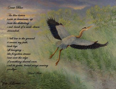 Great Blue Heron w/Poem - Item  PP127