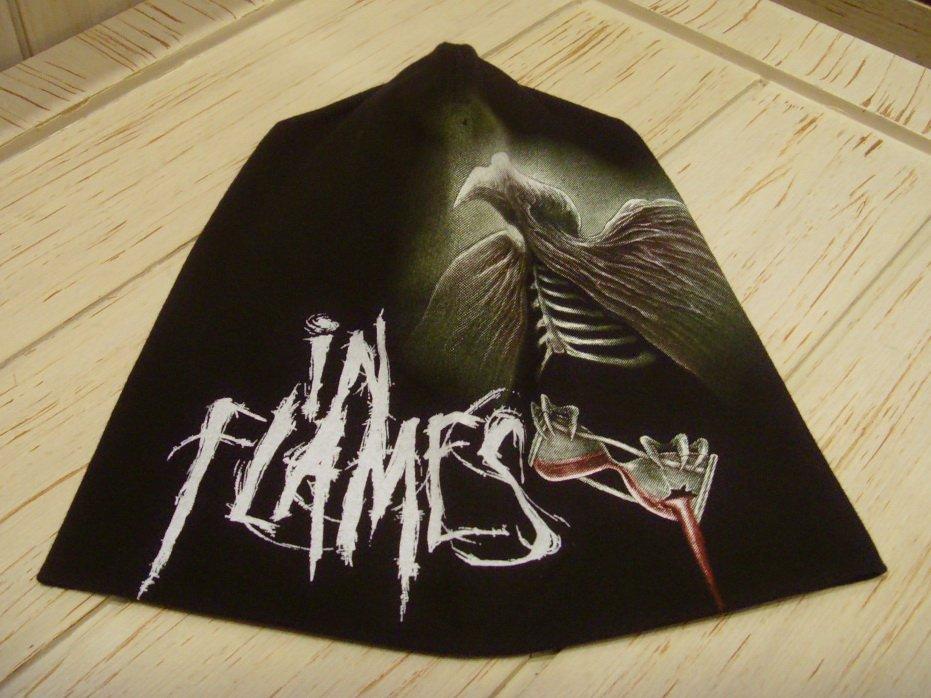 IN FLAMES Beanie Hat Heavy Metal Rock Band Snow Winter Ski Bikers Cap