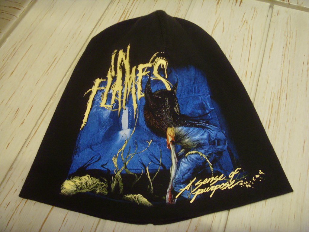 In Flames A Sense Of Purpose Beanie Hat Heavy Metal Rock Band Snow Winter Ski Motorcycles Cap