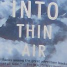 INTO THIN AIR - By Jon Krakauer - PB/1998 - Action Adventure