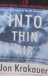 INTO THIN AIR - By Jon Krakauer - PB/1998 - Action Adventure
