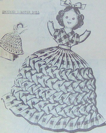 Vintage SMOCKED DOLL Toaster Cover Pattern
