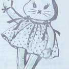 Vintage LONG-LEGGED BUNNY RABBIT and Her Dress Pattern