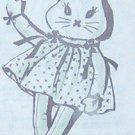 Vintage LONG-LEGGED BUNNY RABBIT and Her Dress Pattern