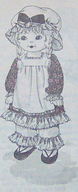 Vintage RAG GIRL DOLL and her Outfit Pattern - 25 inches tall