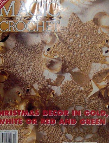 Magic Crochet - Seasons Best - Hearts Tree Ornaments and Place Mats - October 1998 -116