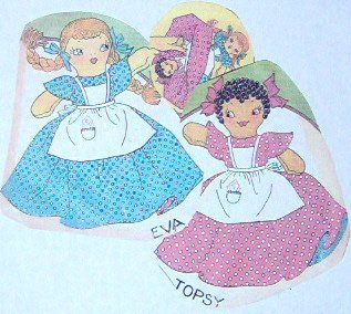 Vintage TOPSY and EVA Upside-Down Doll Pattern
