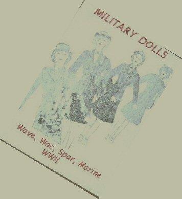 Vintage - WAVE, WAC, SPAR, MARINE Military Women Redline Doll WWII Pattern