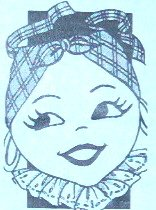 Vintage - Black Americana *GIRL* half Apron Pattern