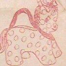 Vintage - DONKEY PURSE - Redline Pattern