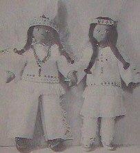 Vintage - INDIAN DOLLS - Boy & Girl Pattern