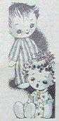 Vintage *FRECKLE FACE BOYS* Sock Doll Pattern